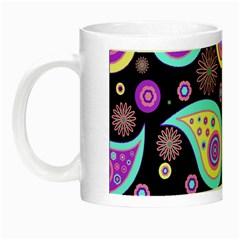 Paisley Pattern Background Colorful Night Luminous Mugs