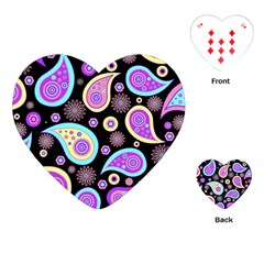 Paisley Pattern Background Colorful Playing Cards (Heart)