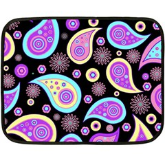 Paisley Pattern Background Colorful Double Sided Fleece Blanket (Mini)