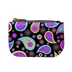 Paisley Pattern Background Colorful Mini Coin Purses