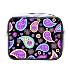 Paisley Pattern Background Colorful Mini Toiletries Bags