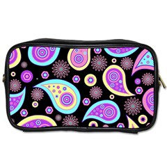 Paisley Pattern Background Colorful Toiletries Bags 2-Side
