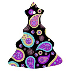 Paisley Pattern Background Colorful Christmas Tree Ornament (two Sides)