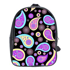 Paisley Pattern Background Colorful School Bags (XL)