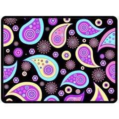 Paisley Pattern Background Colorful Double Sided Fleece Blanket (Large)