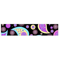 Paisley Pattern Background Colorful Flano Scarf (Small)