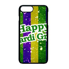 Happy Mardi Gras Poster Apple Iphone 7 Plus Seamless Case (black)