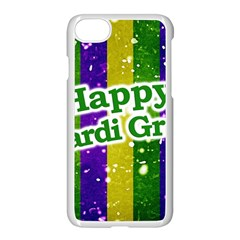 Happy Mardi Gras Poster Apple Iphone 7 Seamless Case (white)