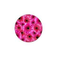 Gerbera Flower Nature Pink Blosso Golf Ball Marker