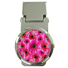 Gerbera Flower Nature Pink Blosso Money Clip Watches