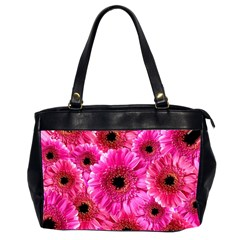 Gerbera Flower Nature Pink Blosso Office Handbags (2 Sides)