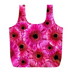 Gerbera Flower Nature Pink Blosso Full Print Recycle Bags (L)