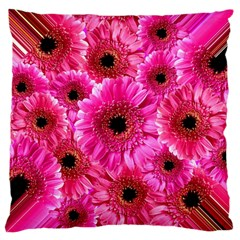 Gerbera Flower Nature Pink Blosso Large Flano Cushion Case (Two Sides)