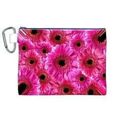 Gerbera Flower Nature Pink Blosso Canvas Cosmetic Bag (xl)