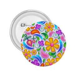 Floral Paisley Background Flower 2.25  Buttons
