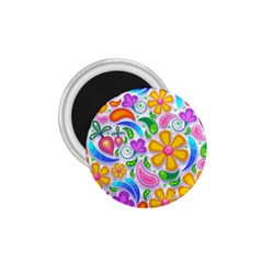 Floral Paisley Background Flower 1.75  Magnets