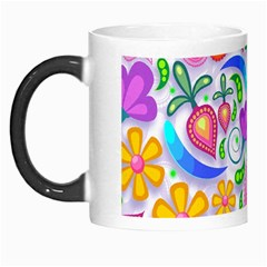 Floral Paisley Background Flower Morph Mugs