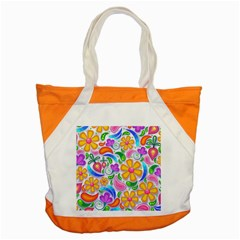 Floral Paisley Background Flower Accent Tote Bag