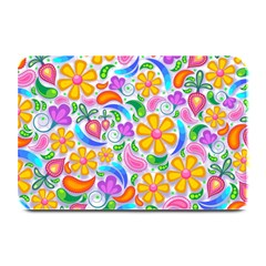Floral Paisley Background Flower Plate Mats