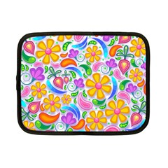 Floral Paisley Background Flower Netbook Case (Small)