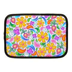 Floral Paisley Background Flower Netbook Case (medium)