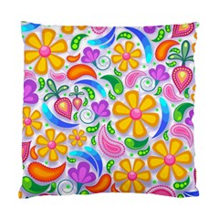 Floral Paisley Background Flower Standard Cushion Case (Two Sides)