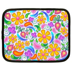 Floral Paisley Background Flower Netbook Case (XXL)