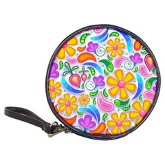 Floral Paisley Background Flower Classic 20-CD Wallets