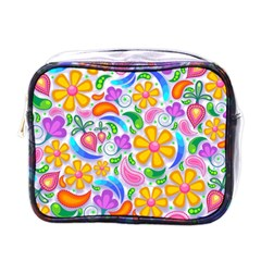 Floral Paisley Background Flower Mini Toiletries Bags
