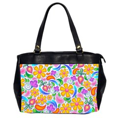 Floral Paisley Background Flower Office Handbags (2 Sides)