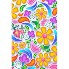 Floral Paisley Background Flower 5 5  X 8 5  Notebooks