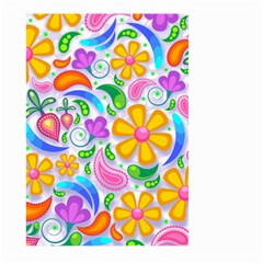 Floral Paisley Background Flower Large Garden Flag (Two Sides)