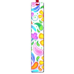 Floral Paisley Background Flower Large Book Marks