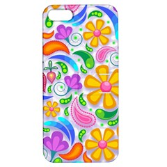 Floral Paisley Background Flower Apple iPhone 5 Hardshell Case with Stand