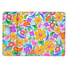 Floral Paisley Background Flower Samsung Galaxy Tab 10.1  P7500 Flip Case