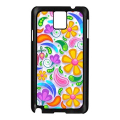 Floral Paisley Background Flower Samsung Galaxy Note 3 N9005 Case (black)