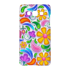 Floral Paisley Background Flower Samsung Galaxy A5 Hardshell Case
