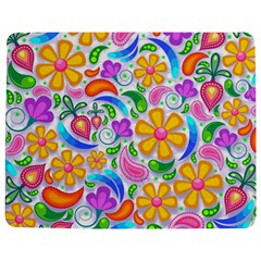 Floral Paisley Background Flower Jigsaw Puzzle Photo Stand (Rectangular)