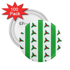 Holly 2.25  Buttons (100 pack)