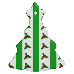Holly Christmas Tree Ornament (Two Sides)