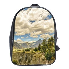 Valley And Andes Range Mountains Latacunga Ecuador School Bags(large)