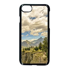 Valley And Andes Range Mountains Latacunga Ecuador Apple Iphone 7 Seamless Case (black)