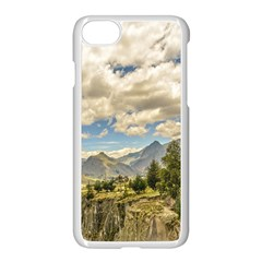 Valley And Andes Range Mountains Latacunga Ecuador Apple Iphone 7 Seamless Case (white)