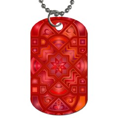 Geometric Line Art Background Dog Tag (Two Sides)