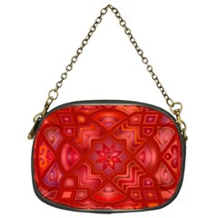 Geometric Line Art Background Chain Purses (One Side)