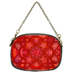 Geometric Line Art Background Chain Purses (two Sides)