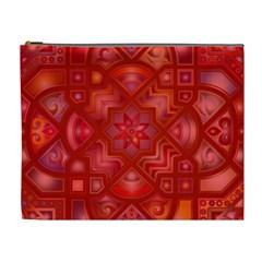 Geometric Line Art Background Cosmetic Bag (XL)