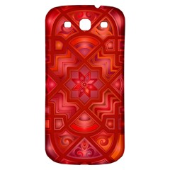 Geometric Line Art Background Samsung Galaxy S3 S III Classic Hardshell Back Case