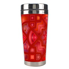 Geometric Line Art Background Stainless Steel Travel Tumblers