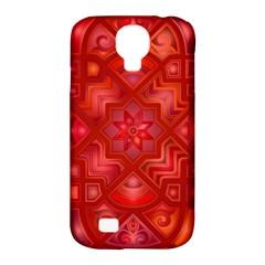 Geometric Line Art Background Samsung Galaxy S4 Classic Hardshell Case (pc+silicone)